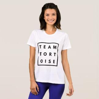 Camiseta Senhoras engraçadas da tartaruga da equipe que
