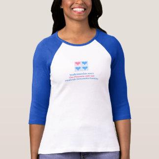Camiseta senhoras finais 3/4 de luva