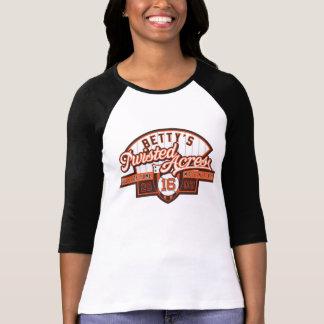 Camiseta Senhoras HOF16 3/4 de Raglan da luva (cabido)