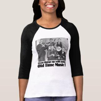 Camiseta Senhoras idosas da música do tempo 3/4 de Raglan