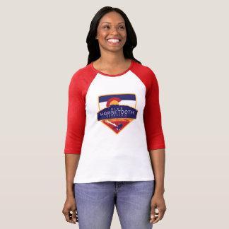 Camiseta Senhoras LS de Horsetooth do mergulho