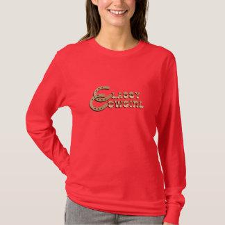 Camiseta Senhoras por muito tempo Sleeved elegantes T da