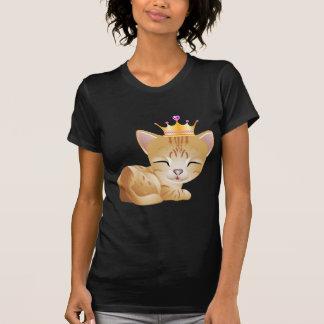 Camiseta Senhoras pretas da princesa Gatinho Gato Presente