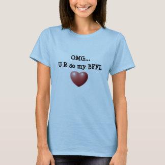 Camiseta Senhoras T de OMG BFFL
