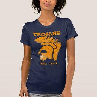 Camiseta Senhoras V profundo Trojan