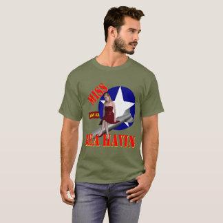 Camiseta Senhorita Behavin' 1944 do bombardeiro WW2