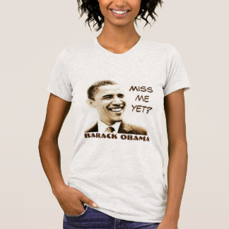 "Camiseta ""Senhorita Me Ainda?"" & ""Barack Obama"" com gráfico"