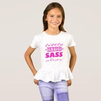 Camiseta Senhorita pequena cor-de-rosa Sassafras