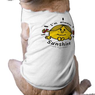 Camiseta Senhorita pequena Luz do sol | eu sou sempre luz