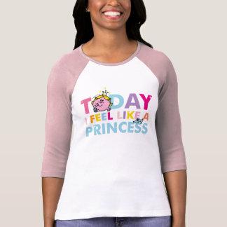 Camiseta Senhorita pequena princesa | que eu sinto como uma