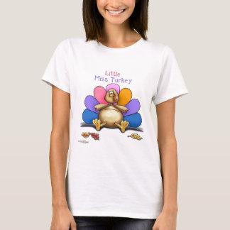 Camiseta Senhorita pequena Turquia da acção de graças feliz