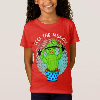 Camiseta Sensação bonito de Kawaii a planta de sorriso do