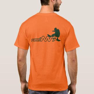 Camiseta sensação nanovolt? (TM) Snowboarder alaranjado