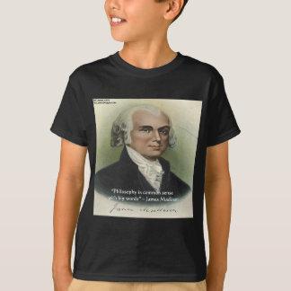 """Camiseta Senso comum de James Madison da """"citações"""
