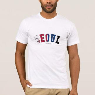 Camiseta Seoul em cores da bandeira nacional de Coreia do