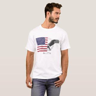 Camiseta Separação da bandeira americana e da águia