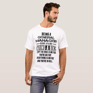 Camiseta Ser um director geral é fácil sua equitação como A