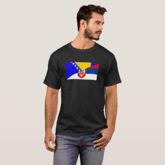 Camiseta serbia Bósnia - símbolo do país da bandeira de