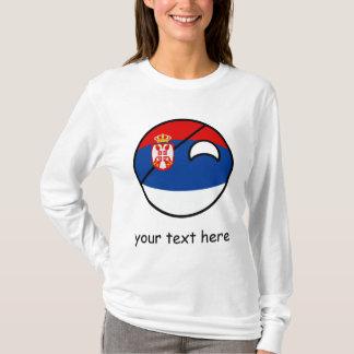 Camiseta Serbia Geeky de tensão engraçado Countryball