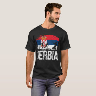 Camiseta Serbia, tshirt sérvio, presente sérvio, pé sérvio
