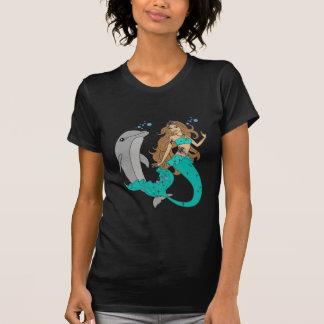 Camiseta Sereia com golfinho