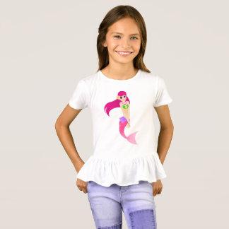 Camiseta Sereia cor-de-rosa