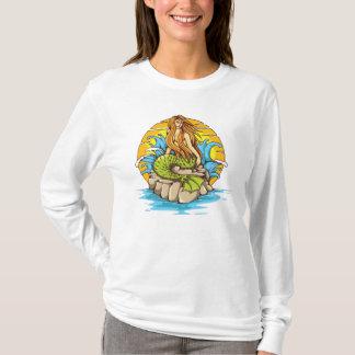 Camiseta Sereia da ilha com arte tribal do estilo do