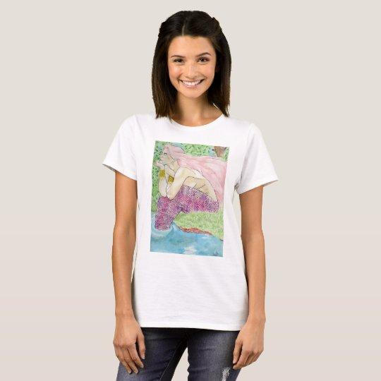 Camiseta Sereia de Aquarela