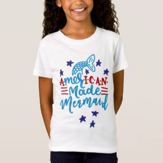Camiseta Sereia feita americana. Provérbios bonitos