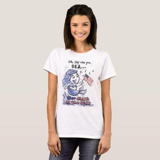 Camiseta Sereia no t-shirt da mulher dos EUA