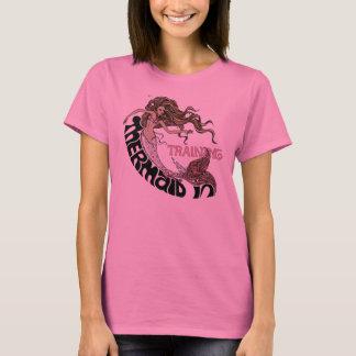 Camiseta Sereia no treinamento, longsleeve (brunette)
