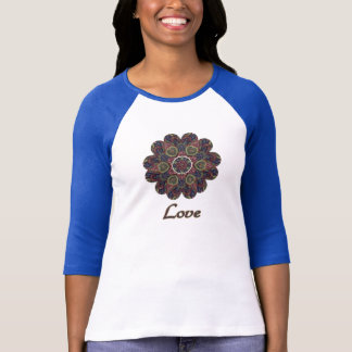 Camiseta Série da inspiração da flor da colagem do tecido