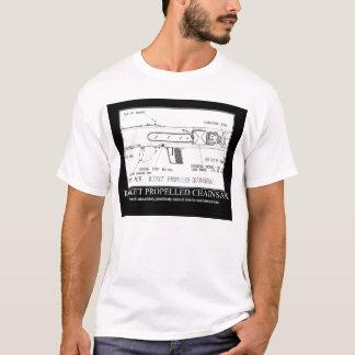 Camiseta serra de cadeia propelida foguete