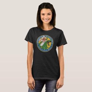 Camiseta Serviço da educação - Jesus em um T-Rex (f)