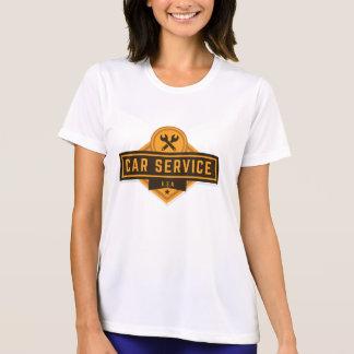 Camiseta Serviço do carro. Vintage referente à cultura
