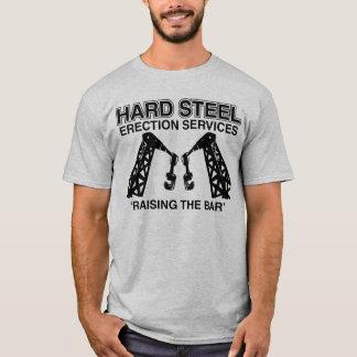 Camiseta Serviços da ereção do aço duro