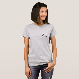 Camiseta Seta através do t-shirt do coração