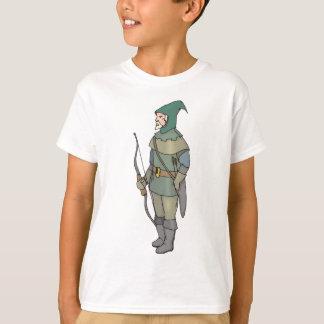 Camiseta Seta do arco do homem do arqueiro da fantasia