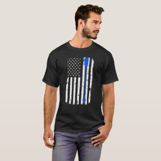 Camiseta Seta do tiro ao arco e bandeira americana
