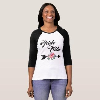 Camiseta Seta floral do tribo da noiva