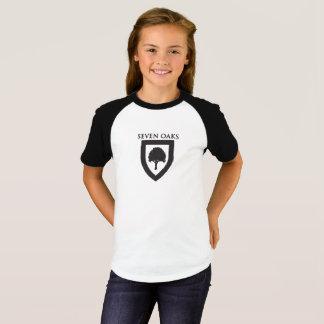 Camiseta Sete carvalhos - T do basebol (meninas)