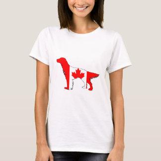 Camiseta Setter da bandeira de Canadá