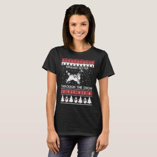 Camiseta Setter inglês através do t-shirt da neve