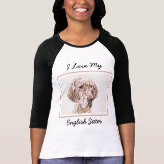 Camiseta Setter inglês (Belton alaranjado)