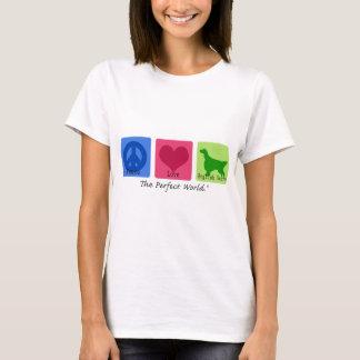 Camiseta Setter inglês do amor da paz