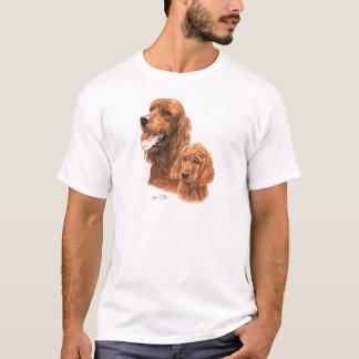 Camiseta Setter irlandês & filhote de cachorro