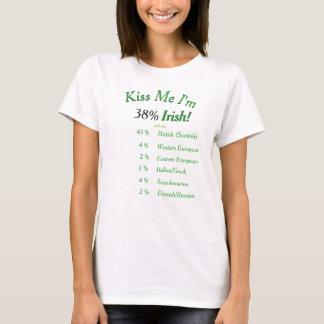 Camiseta Seu ADN testado beija-me que eu sou irlandês! em
