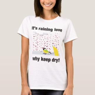 Camiseta Seu amor chovendo, por que mantem-se seco?