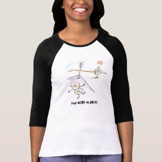 Camiseta Seu cérebro no t-shirt dos GMOs