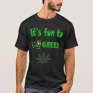Camiseta Seu divertimento a ir verde